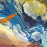 "Sharmon Davidson ""Wind & Water"" monotype 5x5"